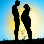 casal gravido sombra