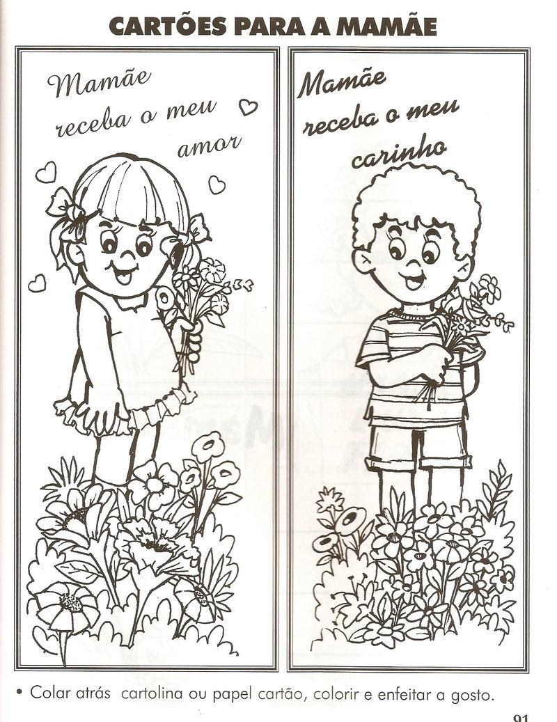 Dia Das Maes Cartoes Atividades E Flores Em Dobradura