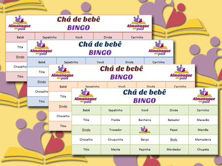 Chá de bebê – Como fazer o Baby Bingo e cartelas para imprimir