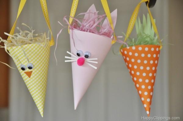 cones de passarinho coelho e cenoura