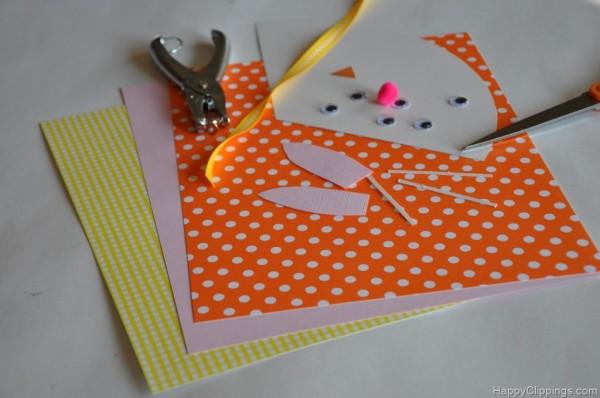 cones de passarinho coelho e cenoura-material