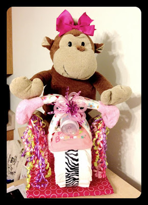 bolo de fraldas de moto com macaca de pelucia by www myloveleelife com