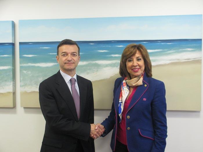 Luis Saurat, diretor geral IVI & Carmen Gonzalléz, Presidente Executiva da Fundación Salud