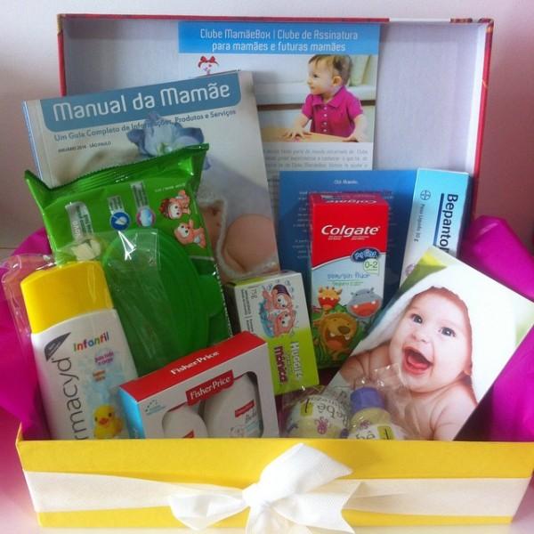 Caixa enviada para alguns perfis de mamães no mês de abril