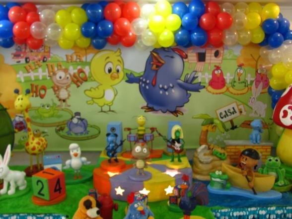 Decoração da festa do primeiro ano do João Pedro: locação e preparativos com empresa especializada