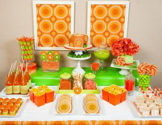 Festa da Laranja: Tonalidades de cores laranja e verde dão vida ao tema