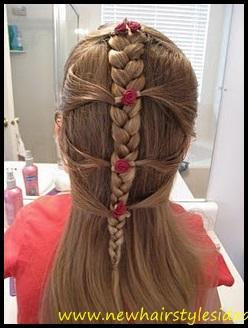 penteado menina tranca