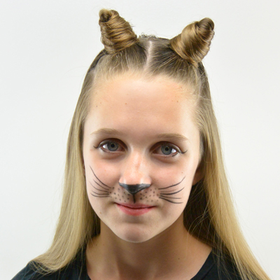 penteado de halloween