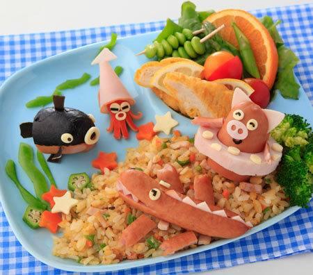 comida divertida animais