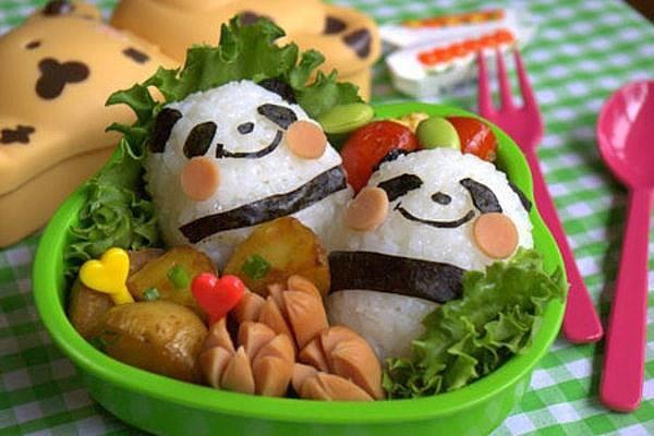 comida divertida pandas