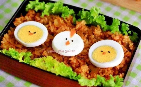 comida divertida passarinhos