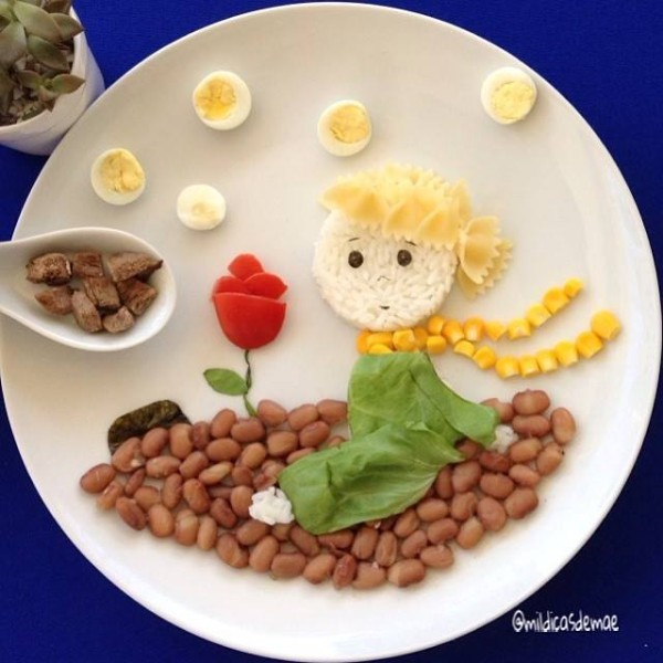 comida divertida pequeno principe