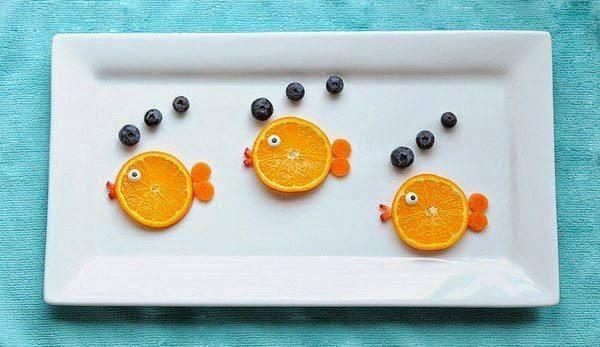 lanche divertido peixinhos de laranja
