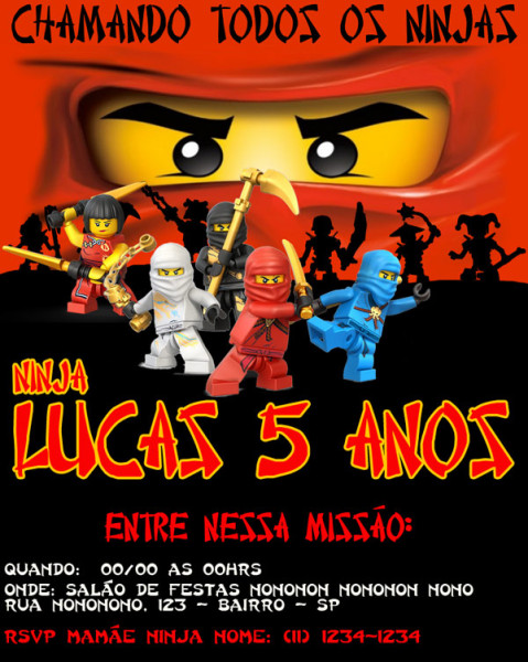 convite-NINJAGO-Lucas-5-anos
