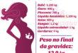 Como está dividido o peso da gestante no final da gravidez