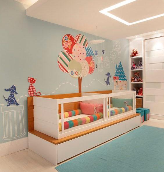 27 Ideias de decoração quarto infantil casal de gêmeos