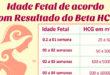 Tabela Beta HCG por Semana de Gravidez ou Idade Fetal