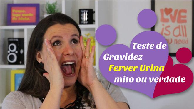 Teste de gravidez caseiro da Fervura da urina